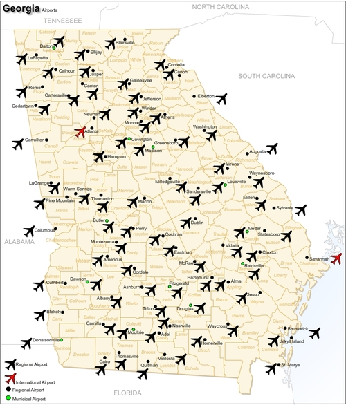 USA Georgia Airports Pligg - Georgia airports