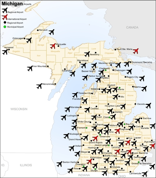 Pictures Graphics Archives Page Of Pligg - Michigan airports