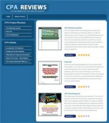 Pay for Ready Cheap Review Website Niche CPA Best Program
