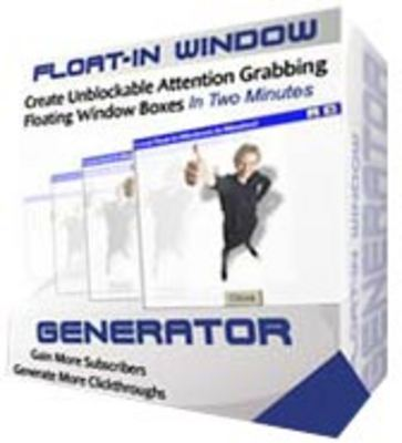 Pay for Float-In Window Generator -With Master Resell Rights*