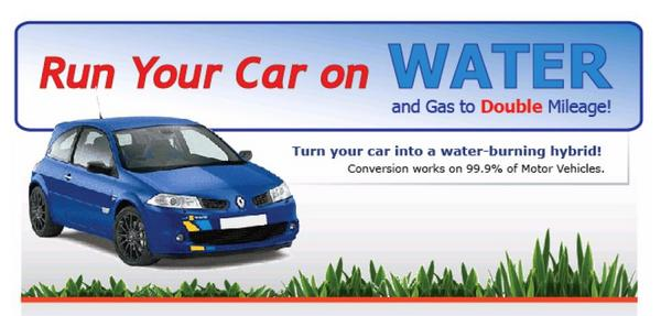 Pay for Water To Gas - Install on any Car To Save Gas Using Water