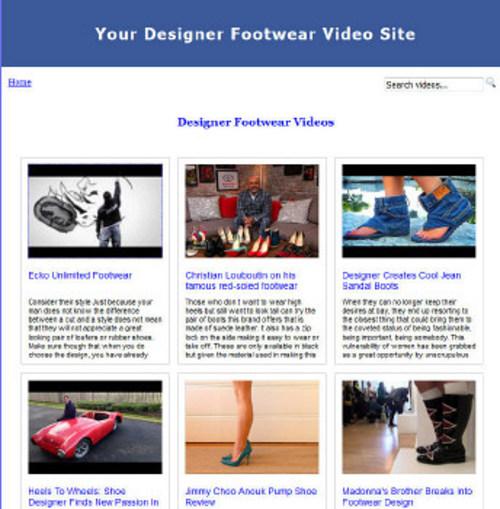 Pay for Designer Footwear Video Site Builder (MRR)