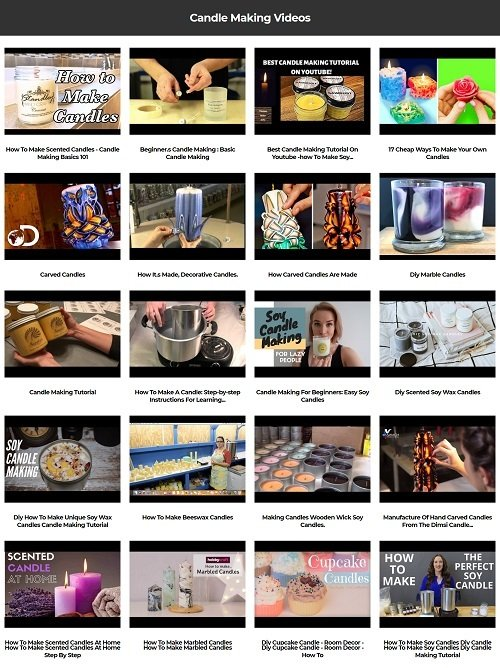 Pay for Candle Making Instant Mobile Video Site