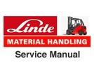 Thumbnail Linde Forklift Truck Series 394-02: H40, H45, H50 Service Training Repair Manual