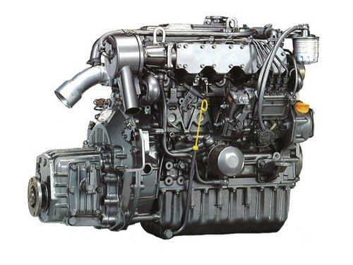 Yanmar 4JH-TE 55hp 4 Cylinder Marine Diesel Engine - YouTube