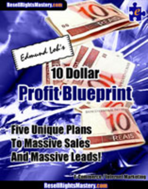 Pay for 10 Dollar Profit Blueprint With Master Resell Rights