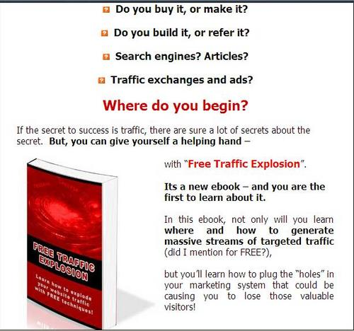Pay for Free Traffic Explosion - ( Master Resell Rights )