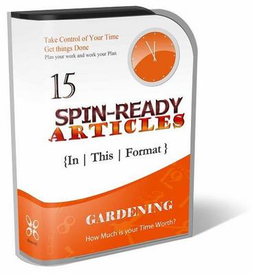 Pay for 15 Spin-Ready Articles - Gardening