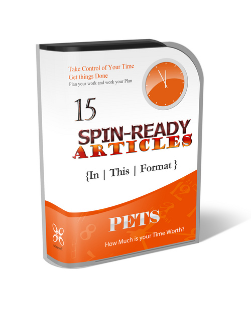 Pay for 15 Spin-Ready Articles - Pets