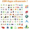 Thumbnail 100 vector logo elements - logo