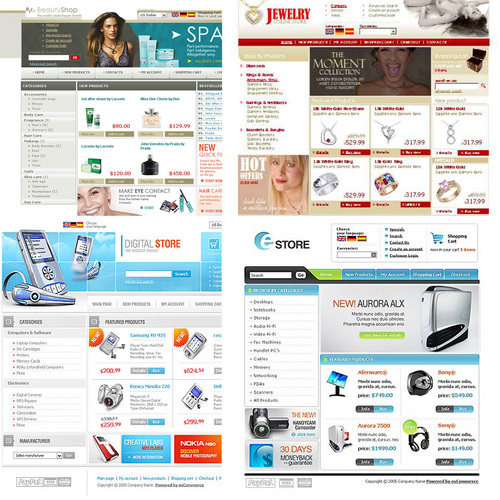 Pay for 20 os commerce templates with source