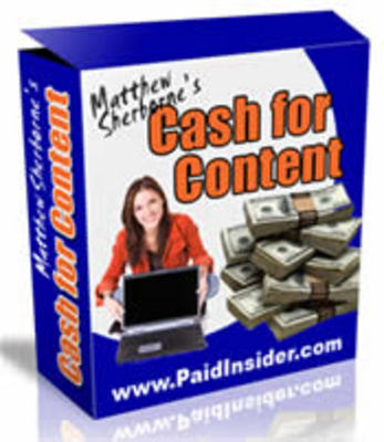 Pay for Cash For Content with Master Resell Rights