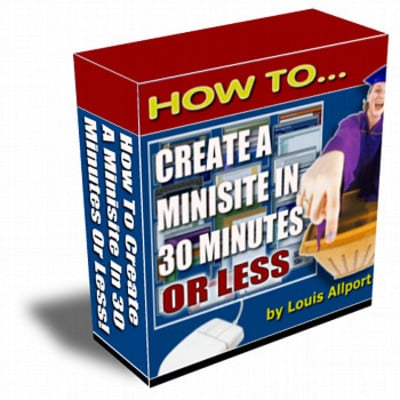 Pay for How To Create A Minisite In 30 Minutes Or Less with RR