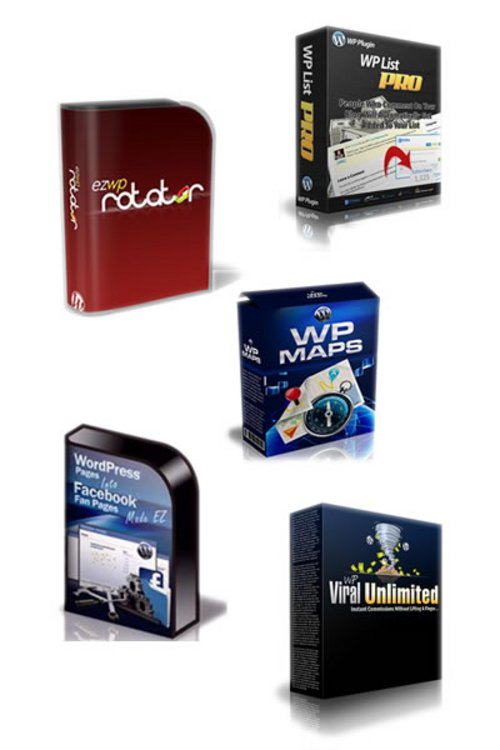 Pay for Package of 5 WP plugins with MRR