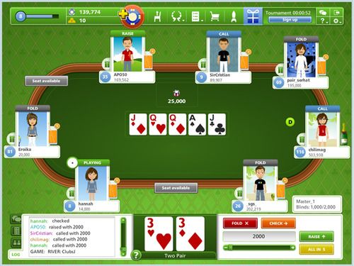 Pay for Embed Zynga Poker like game into your website.