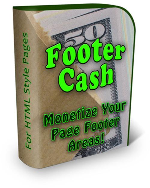 Pay for Footer Cash  + PLR + Bonus   $2.29
