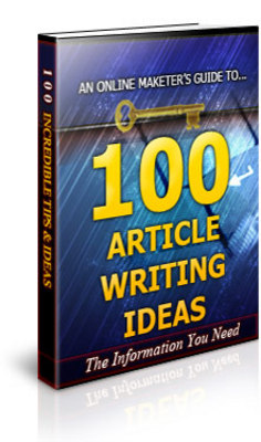 Pay for 100 Article Writing Ideas ebook + PLR