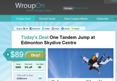 Pay for Groupon Daily Deal Script & WAP Mobile Groupon