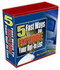 Thumbnail 5 Fast Ways to Explode Your Opt-In List With Master RR