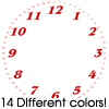 Thumbnail 14 Benguiat Font Clock Faces For Cafepress Clocks
