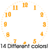 Thumbnail 14 Blindfold Font Clock Faces For Cafepress Clocks