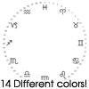 Thumbnail 14 Zodiac Clock Faces For Cafepress Clocks