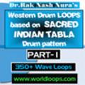 Thumbnail WESTERN DRUM LOOP with INDIAN DRUM PATTERN - PART- 1