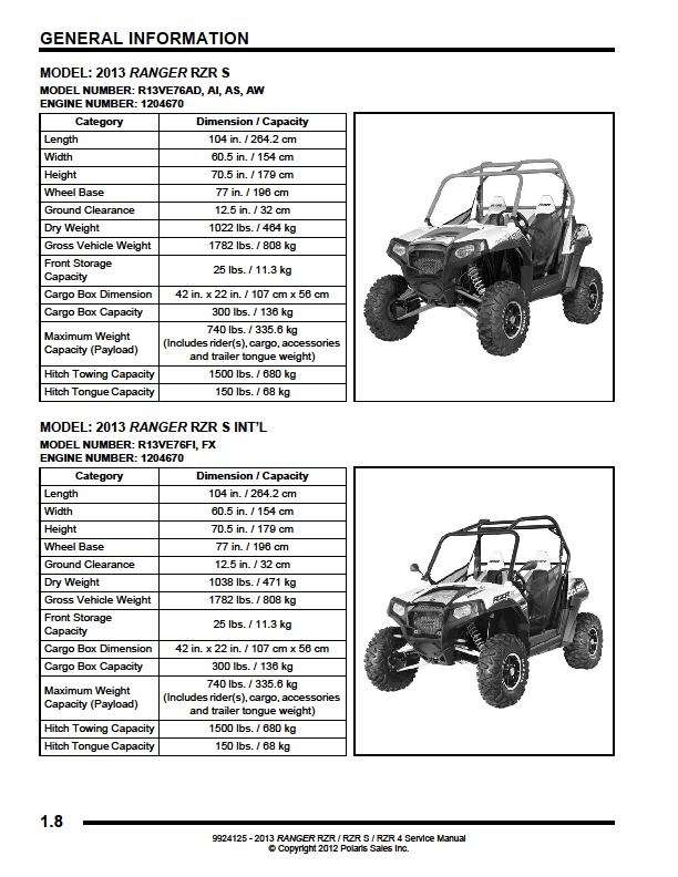 2013 polaris rzr le 800 s service manual