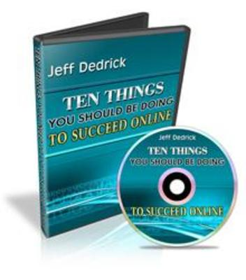 Pay for Jeff Dedricks 10 Things To Succeed Online with MRR