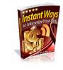 Thumbnail Instant Ways to Monetize Your Blog