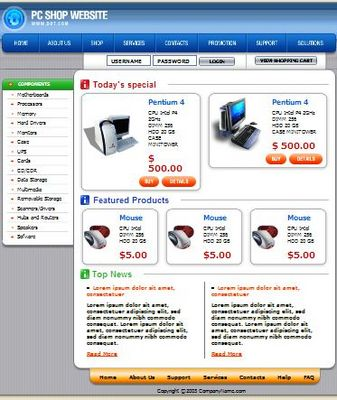 Pay for PC Shop HTML  Web Template,