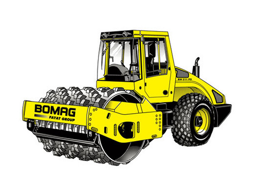 Bomag Single Drum Wheel Drive Vibratory Roller Bw 211 D