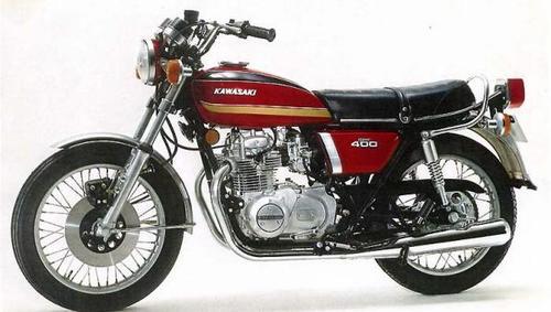 1974 Kawasaki Kz400 Motorcycle Service Amp Repair Manual border=