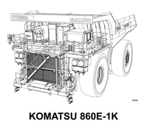 Pay for KOMATSU 860E-1K, 860E-1KT DUMP TRUCK SERVICE REPAIR MANUAL + FIELD ASSEMBLY MANUAL