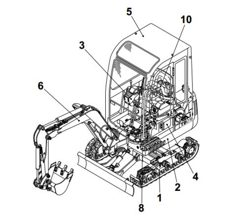 Pay for Takeuchi TB25, TB250 Compact Excavator Parts Manual Download