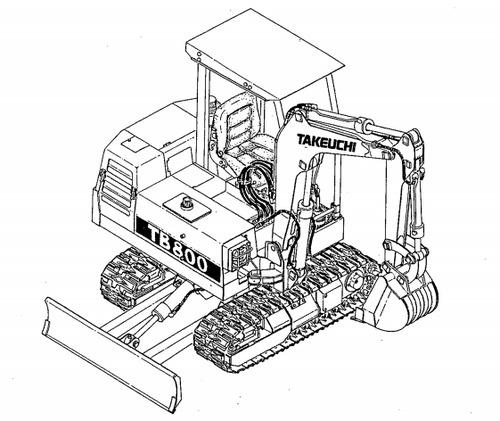 Takeuchi Tb800 Parts Manual