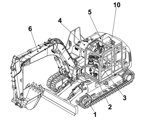 Takeuchi Tb25 Tb250 Compact Excavator Parts Manual Download