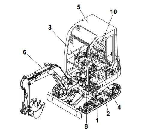 takeuchi tb80fr compact excavator service repair manual. Black Bedroom Furniture Sets. Home Design Ideas