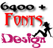 Thumbnail 6400 + New Fonts Design TTF Format Collection