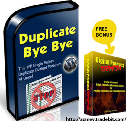 Pay for Duplicate Bye-Bye-New Wordpress plugin
