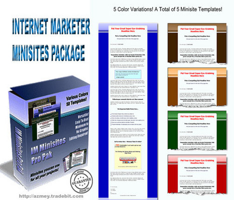 Pay for IInternet marketer Minisites package