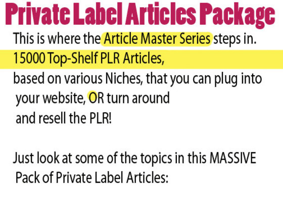 Pay for 1500 plr NICHE plr articles