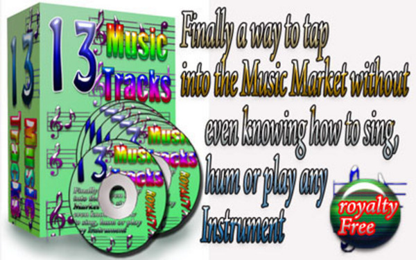 Pay for 13 royalty free Music Tracks