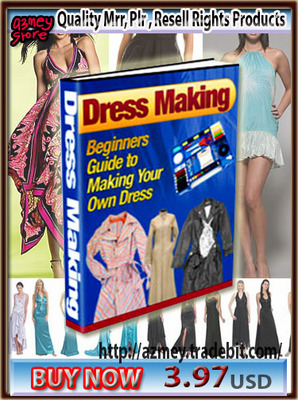 Pay for DRESS MAKING-Beginners Guide to Making Your Own Dress