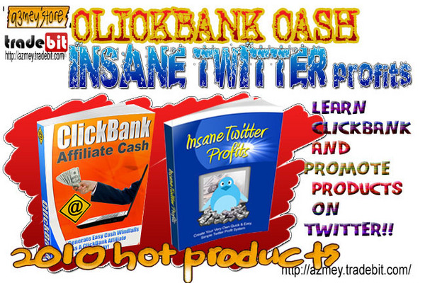 Pay for CLICKBANK AFFILIATE CASH and INSANE TWITTER PROFITS