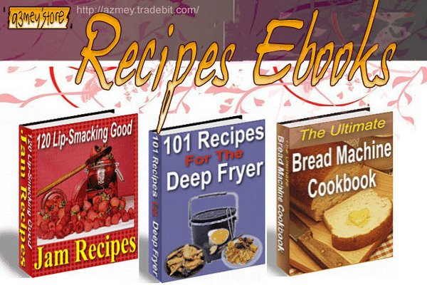 Pay for 3 Recipes EBOOKS