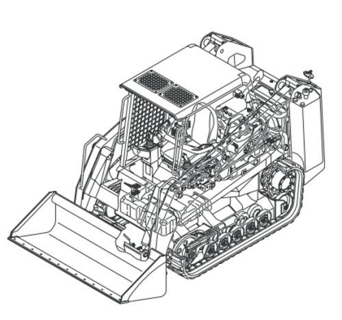 free asv hd 4500 4520 posi track loader illustrated master