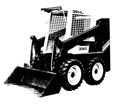 Gehl 3310  3410 Skid Loader Illustrated Master Parts List