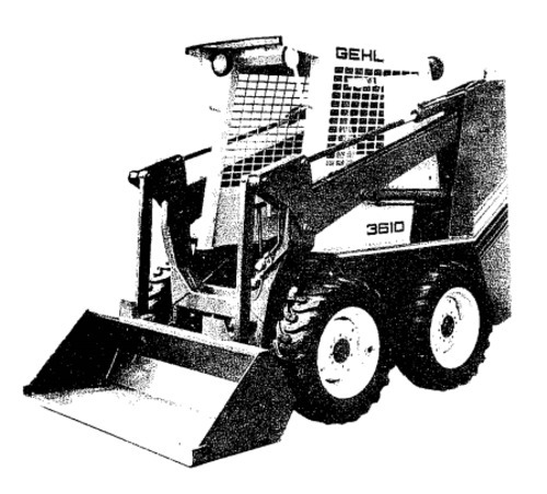 gehl sl3510 sl3610 sl 3510 sl 3610 skid loader illustrated master rh tradebit com gehl skid steer manual gehl skid steer manual