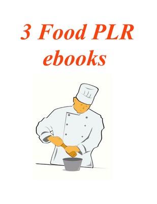 Pay for 3 PLR ebooks on Food plus Bonuses